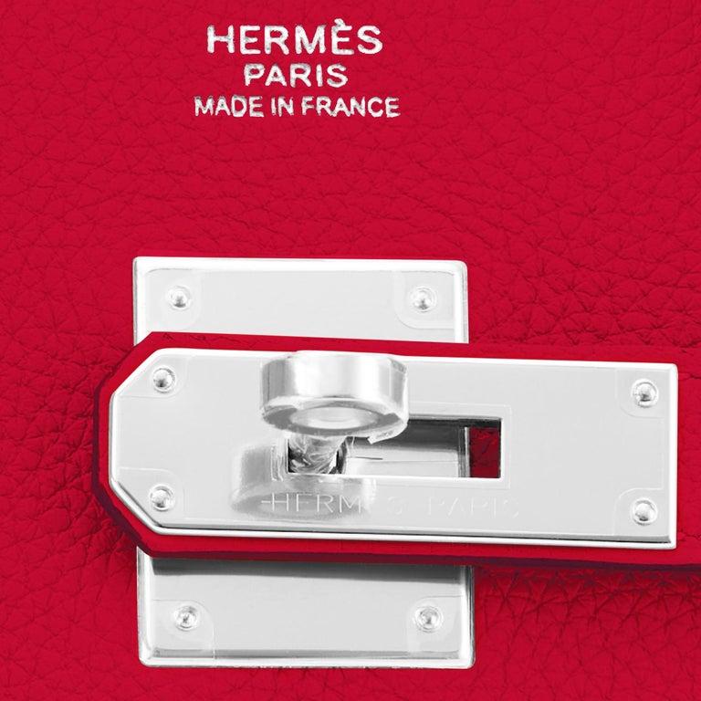 Hermes Birkin 30 Rouge Casaque Verso Bag Red Y Stamp, 2020 RARE Limited Edition For Sale 8
