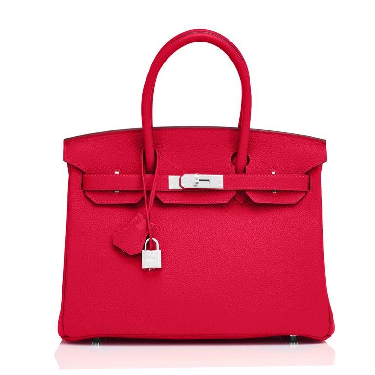 Hermes Birkin 30 Rouge Casaque Verso Bag Red Y Stamp, 2020 RARE Limited Edition For Sale 6