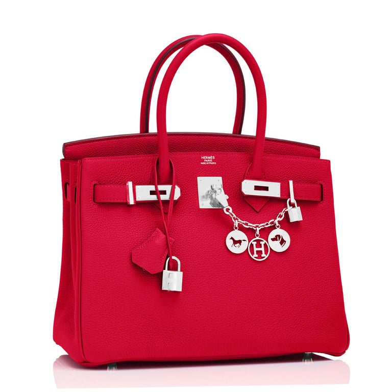 Hermes Birkin 30 Rouge Casaque Verso Bag Red Y Stamp, 2020 RARE Limited Edition In New Condition For Sale In New York, NY