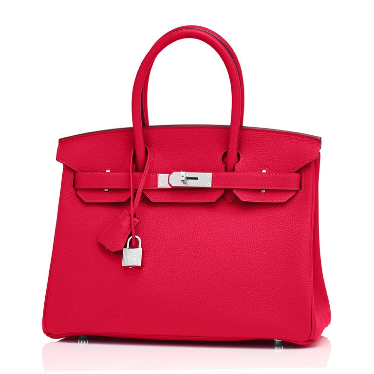 Hermes Birkin 30 Rouge Casaque Verso Bag Red Y Stamp, 2020 RARE Limited Edition For Sale 3