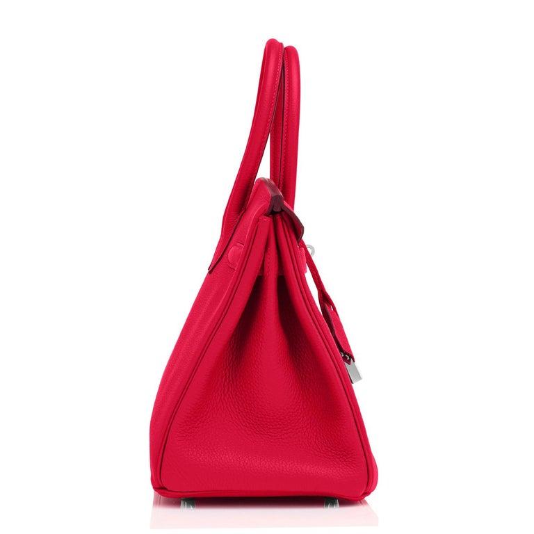 Hermes Birkin 30 Rouge Casaque Verso Bag Red Y Stamp, 2020 RARE Limited Edition For Sale 4