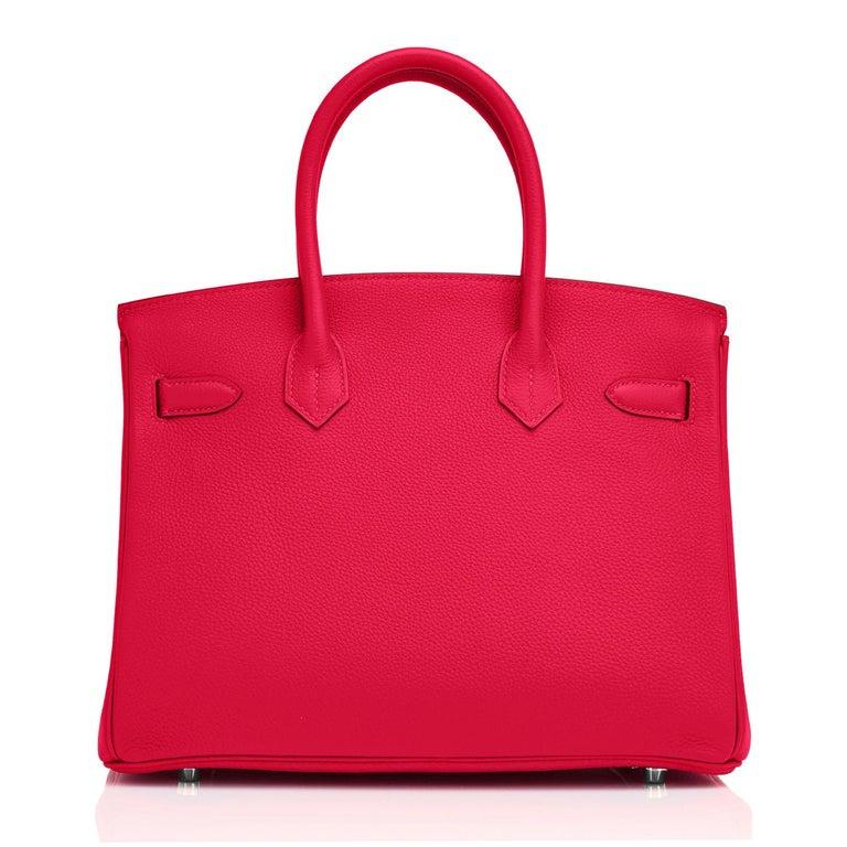 Hermes Birkin 30 Rouge Casaque Verso Bag Red Y Stamp, 2020 RARE Limited Edition For Sale 2