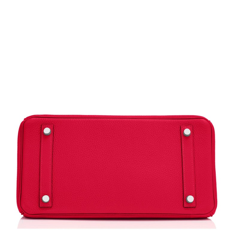 Hermes Birkin 30 Rouge Casaque Verso Bag Red Y Stamp, 2020 RARE Limited Edition For Sale 5