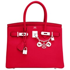 Hermes Birkin 30 Rouge Casaque Verso Bag Red Y Stamp, 2020 RARE Limited Edition