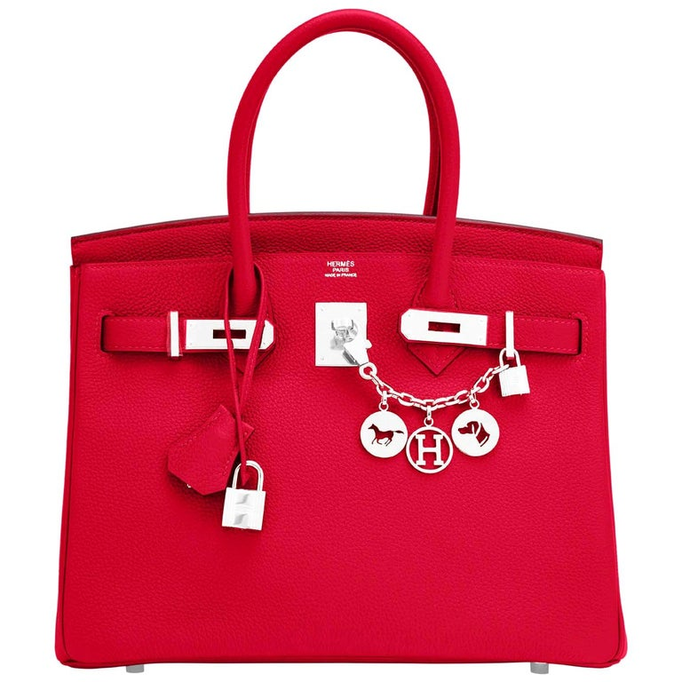 Hermes Birkin 30 Rouge Casaque Verso Bag Red Y Stamp, 2020 RARE Limited Edition For Sale
