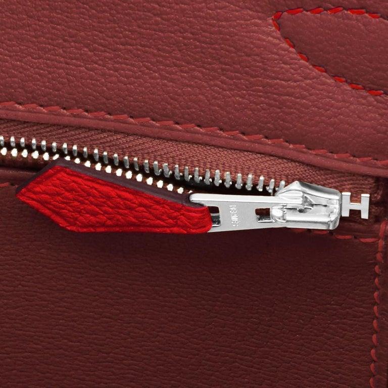 Hermes Birkin 30 Rouge Casaque Verso Bag Red Y Stamp, 2020 RARE Limited Edition For Sale 7