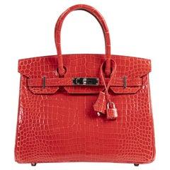 Hermès Birkin 30 Rouge de Coeur Crocodile Porosus PHW