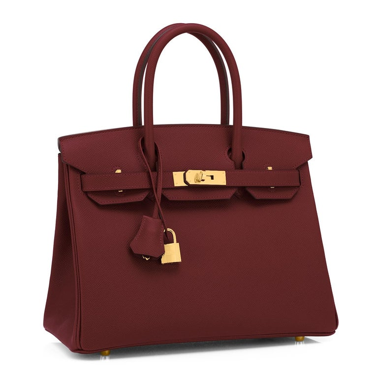 Hermes Rouge H 30cm Birkin Epsom Gold Hardware Y Stamp, 2020 Devastatingly gorgeous!! Brand New in Box.  Store Fresh.  Pristine Condition (with plastic on hardware). Just purchased from Hermes store! Bag bears new interior 2020 Y Stamp. Perfect