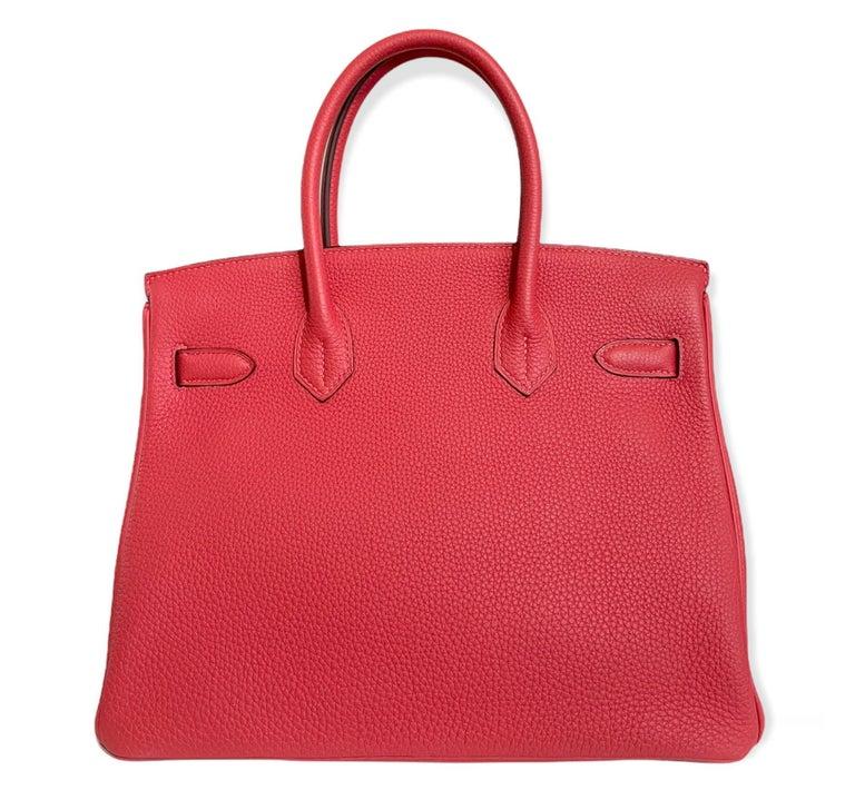 Women's or Men's Hermes Birkin 30 Rouge Pivoine Red Togo Gold Hardware New