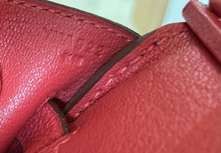 Hermes Birkin 30 Rouge Pivoine Red Togo Gold Hardware New  3