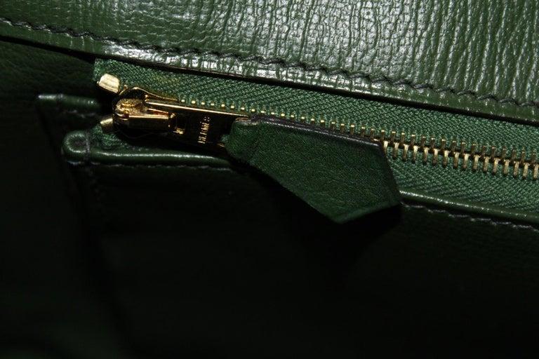 Hermes Birkin 30 Swift Green Leather  For Sale 8