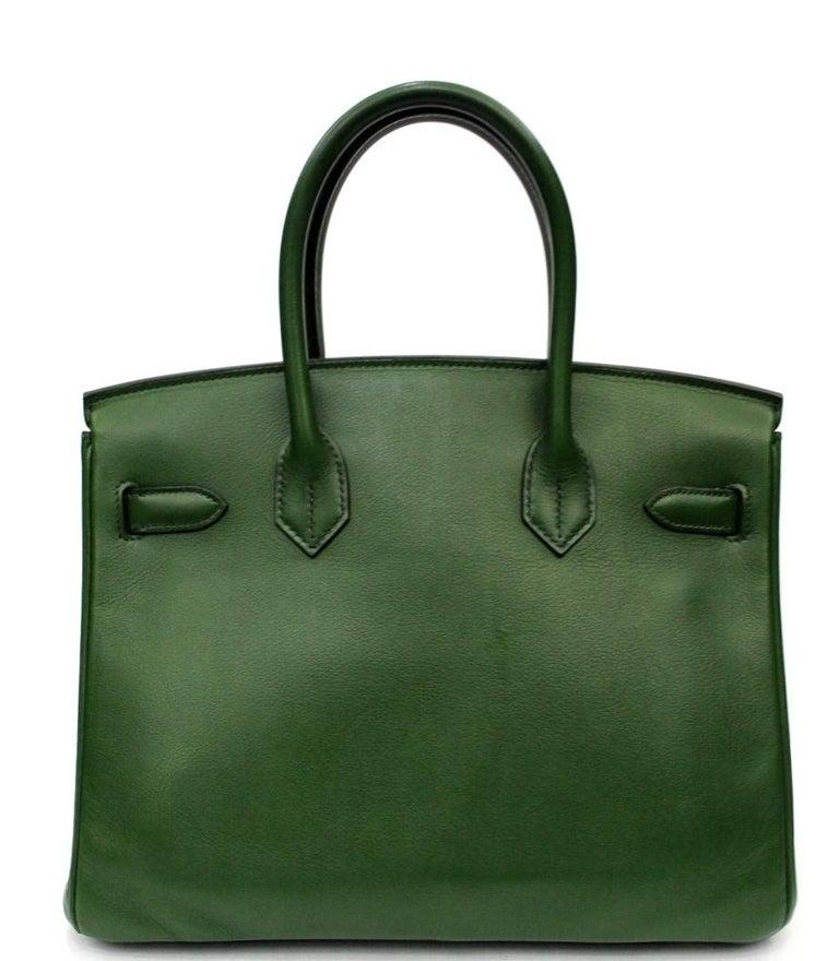 Birkin 30 cm Green Swift Leather Gold Hardware Serial Number: [O] 2011