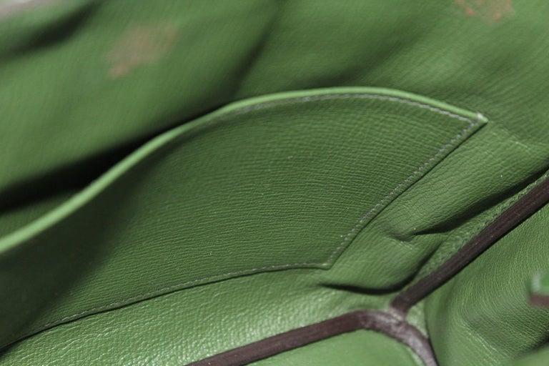 Hermes Birkin 30 Swift Green Leather  For Sale 3