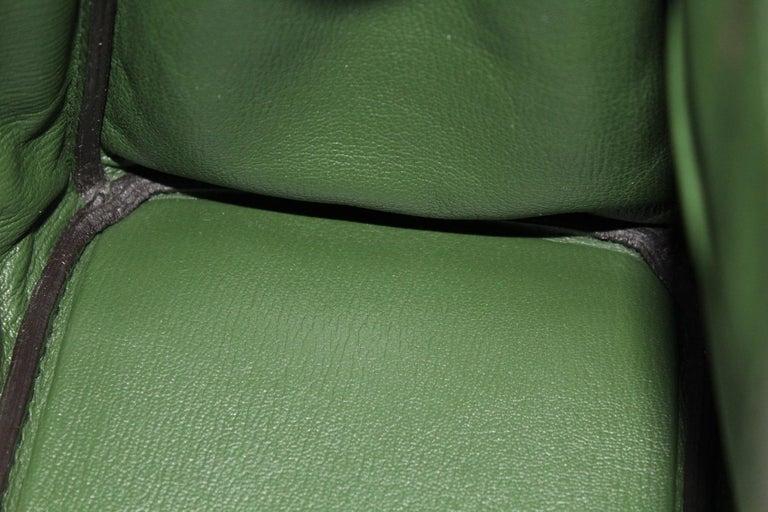 Hermes Birkin 30 Swift Green Leather  For Sale 4