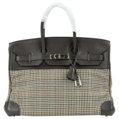 Hermes Birkin 30 Togo And Plaid Wool Lainage PHW