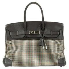 Hermes Birkin 30 Togo And Plaid Wool Lainage PHW