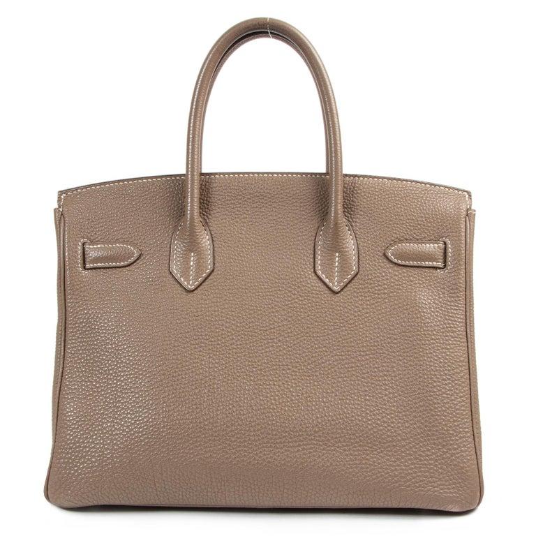 Hermès Birkin 30 Togo Doublure Chevre Pigmente Etoupe PHW In Good Condition For Sale In Antwerp, BE