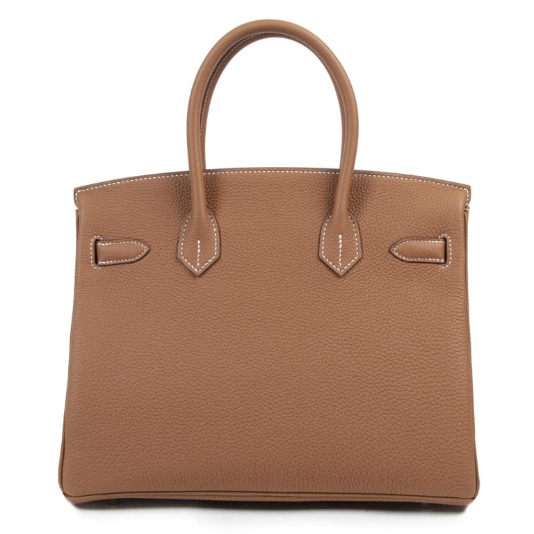 Hermès Birkin 30 Togo Gold PHW In New Condition For Sale In Antwerp, BE
