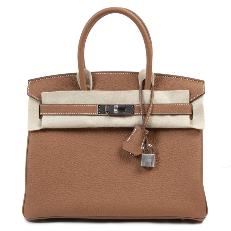 Women's or Men's Hermès Birkin 30 Togo Gold PHW For Sale