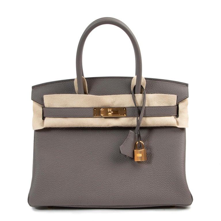 Gray Hermès Birkin 30 Togo Gris Etain GHW For Sale