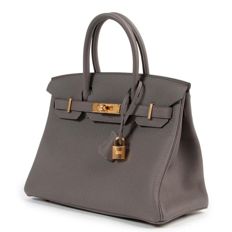 Women's or Men's Hermès Birkin 30 Togo Gris Etain GHW For Sale