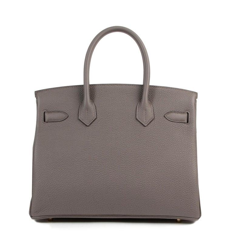 Hermès Birkin 30 Togo Gris Etain GHW For Sale 1