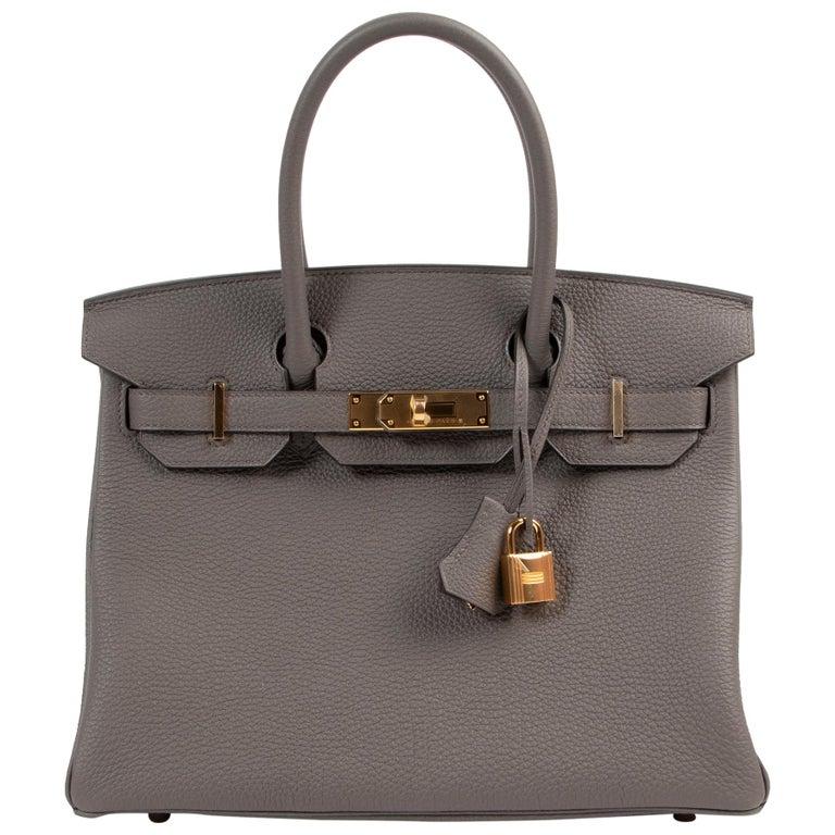 Hermès Birkin 30 Togo Gris Etain GHW For Sale