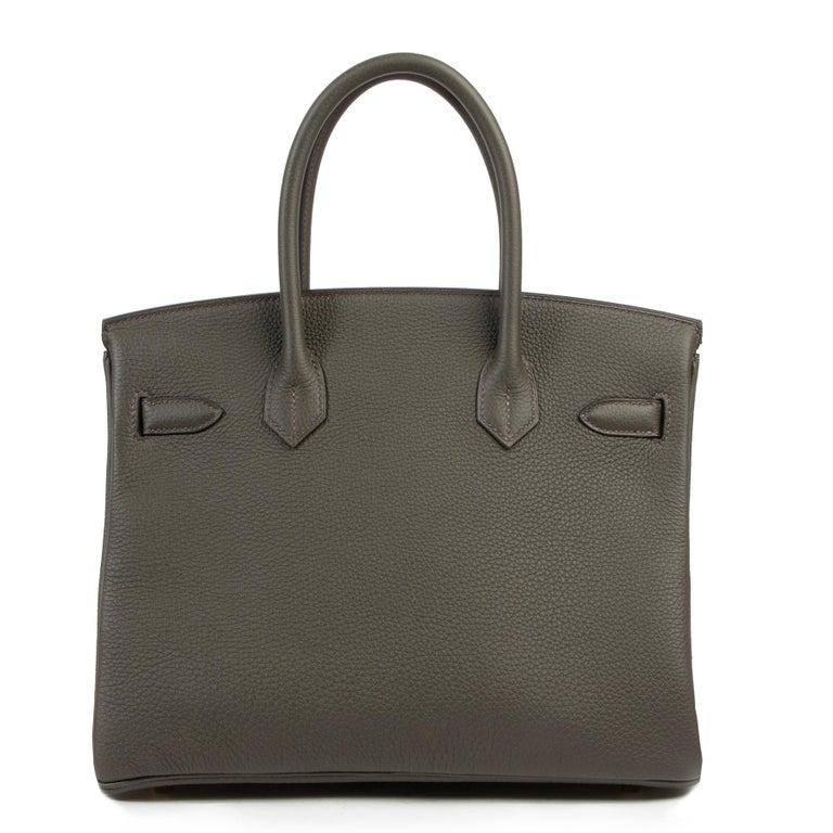 Women's or Men's Hermes Birkin 30 Togo Vert De Gris GHW For Sale