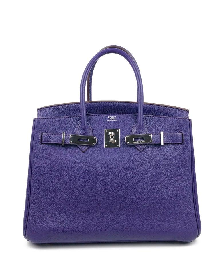 Hermes Birkin 30 Ultraviolet Purple Palladium Hardware In Excellent Condition For Sale In Lancaster, CA