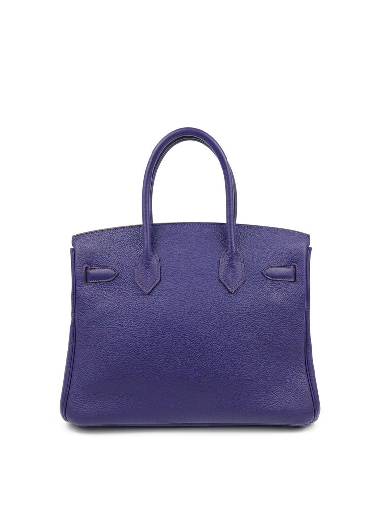 Women's or Men's Hermes Birkin 30 Ultraviolet Purple Palladium Hardware For Sale