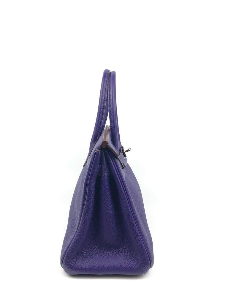 Hermes Birkin 30 Ultraviolet Purple Palladium Hardware For Sale 2