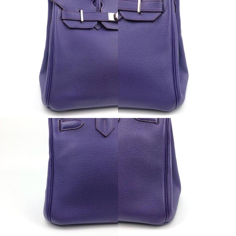 Hermes Birkin 30 Ultraviolet Purple Palladium Hardware For Sale 4
