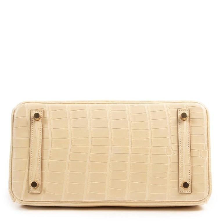 Hermès Birkin 30 Vanille Alligator Matte For Sale 2