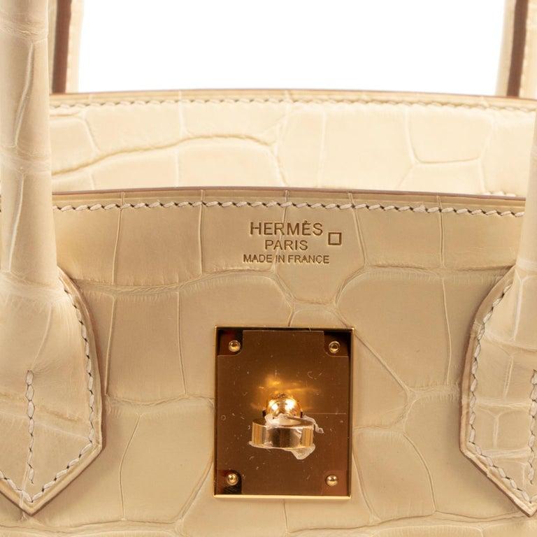 Hermès Birkin 30 Vanille Alligator Matte For Sale 3