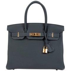 Hermès Birkin 30 Vert Rousseau Togo GHW