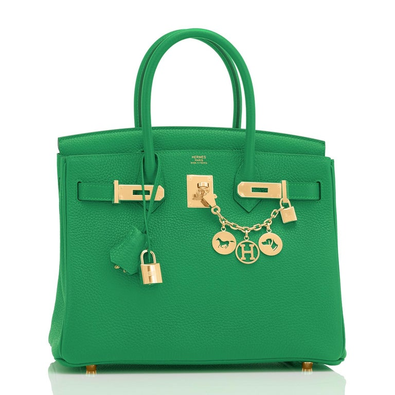 Hermes Birkin 30cm Bambou Bag Bag Gold Hardware Y Stamp, 2020 Just purchased from Hermes store! Bag bears new 2020 interior Y Stamp. Brand New in Box. Store fresh. Pristine condition (with plastic on hardware). Perfect gift! Coming full set with