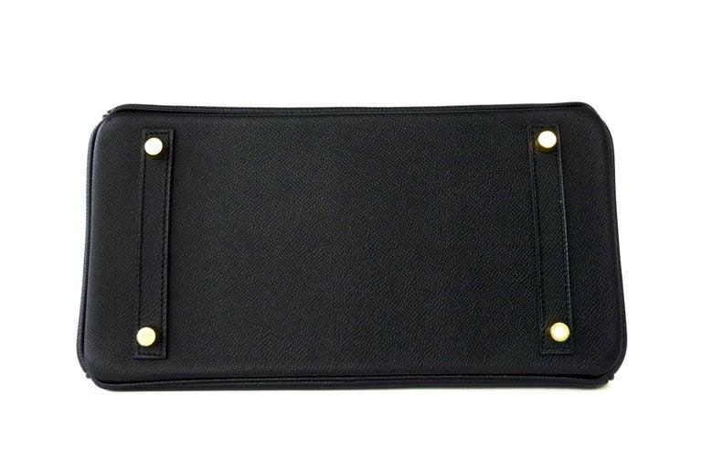 Hermes Birkin 30cm Black Epsom Gold Hardware Bag D Stamp, 2019 For Sale 2