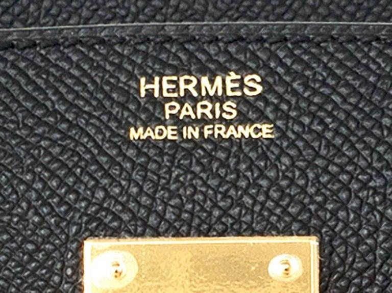 Hermes Birkin 30cm Black Epsom Gold Hardware Bag D Stamp, 2019 For Sale 4
