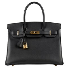 Hermès Birkin 30cm Black Epsom Leather Gold Hardware