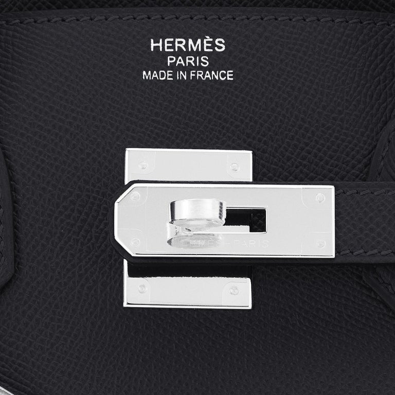 Hermes Birkin 30cm Black Epsom Palladium Bag Y Stamp, 2020 For Sale 6