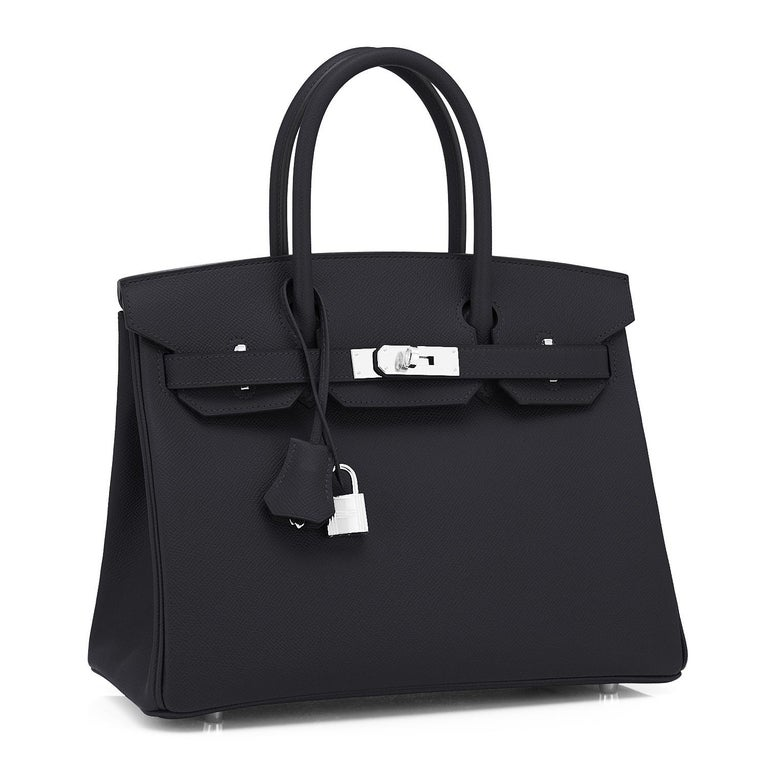 Hermes Black 30cm Birkin Epsom Gold Hardware Bag Y Stamp, 2020 Just purchased from Hermes store; bag bears new interior Y 2020 Stamp. Brand New in Box. Store fresh.  Pristine Condition (with plastic on hardware) Perfect gift! Comes with keys, lock,