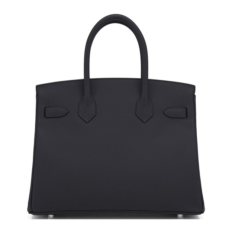 Hermes Birkin 30cm Black Epsom Palladium Bag Y Stamp, 2020 For Sale 1