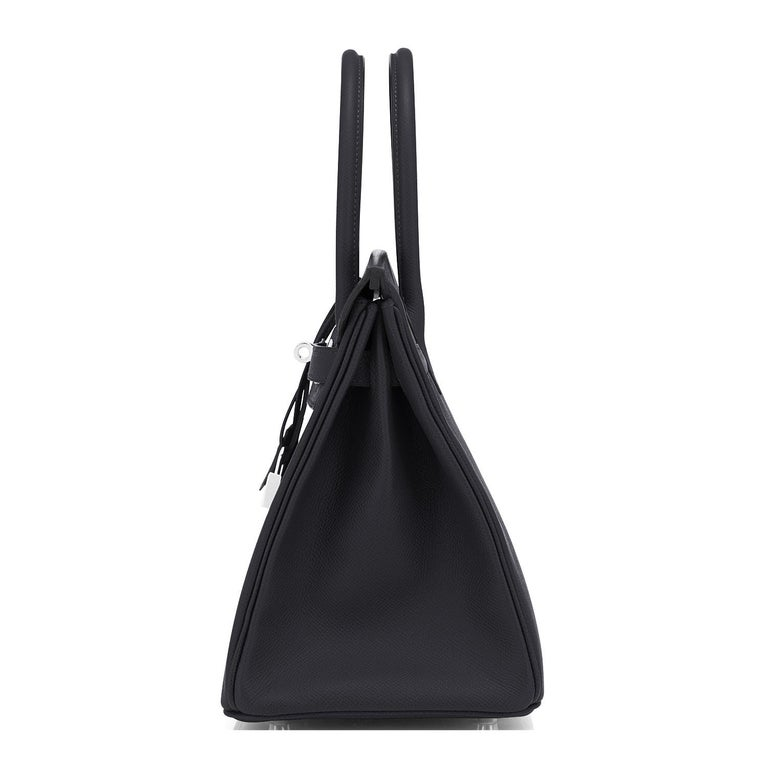 Hermes Birkin 30cm Black Epsom Palladium Bag Y Stamp, 2020 For Sale 2