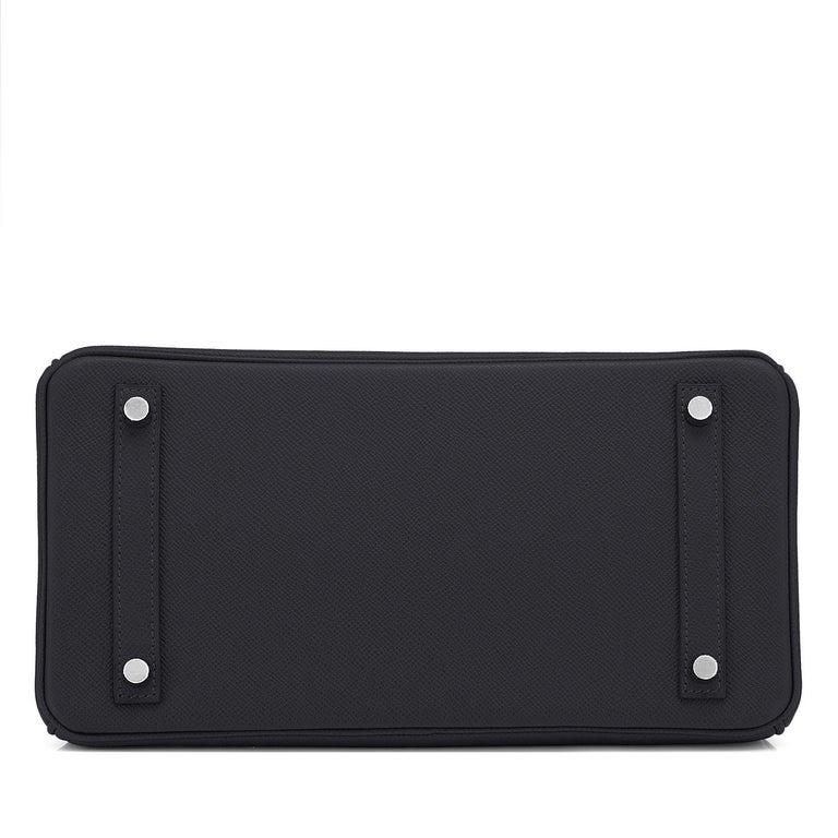Hermes Birkin 30cm Black Epsom Palladium Bag Y Stamp, 2020 For Sale 4