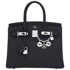 Hermes Birkin 30cm Black Epsom Palladium Bag Y Stamp, 2020