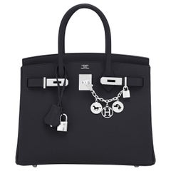 Hermes Birkin 30cm Black Epsom Palladium Bag Y Stamp, 2020