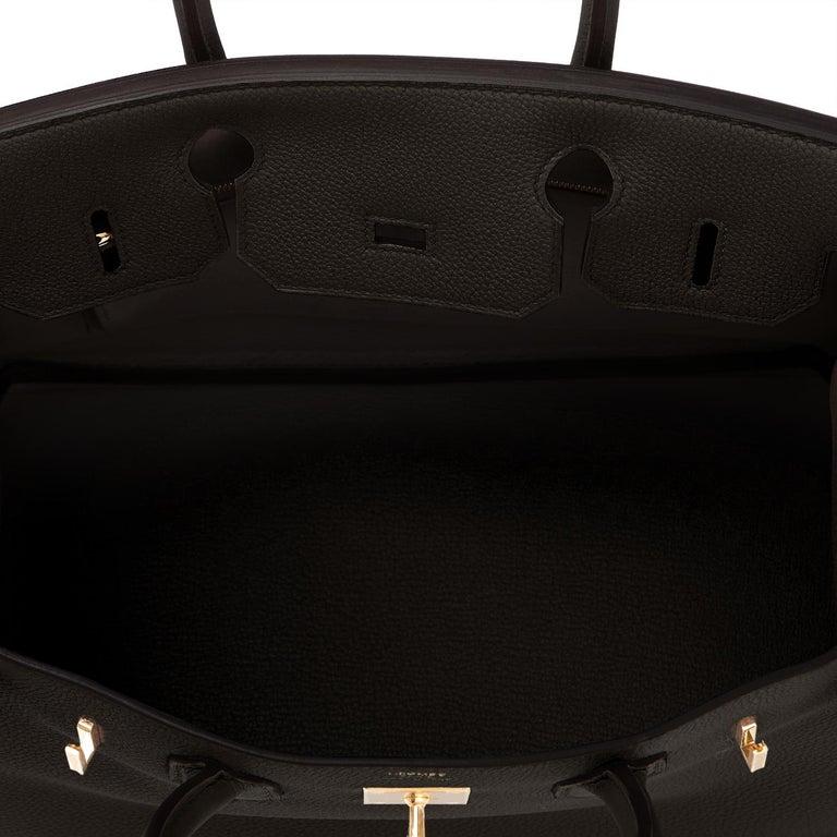 Hermes Birkin 30cm Black Togo Gold Hardware Bag Y Stamp, 2020 For Sale 6