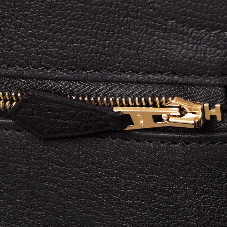 Hermes Birkin 30cm Black Togo Gold Hardware Bag Y Stamp, 2020 For Sale 7