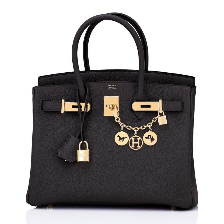 Hermes Birkin 30cm Black Togo Gold Hardware Bag Y Stamp, 2020 Brand New in Box. Store Fresh. Pristine Condition (with plastic on hardware) Just purchased from Hermes store; bag bears new 2020 interior Y stamp!  Perfect gift! Comes with lock, keys,