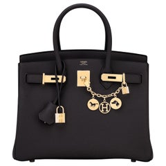 Hermes Birkin 30cm Black Togo Gold Hardware Bag Y Stamp, 2020